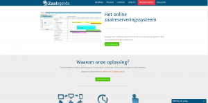 Zaalagenda website